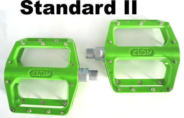 NC17 STD II PRO Pedale MTB BMX 9 16  Plattformpedal Bärentatze Aluminium grün  | Räumungsverkauf