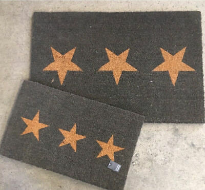 Loft 1850 Small 3 Star Doormat in Charcoal