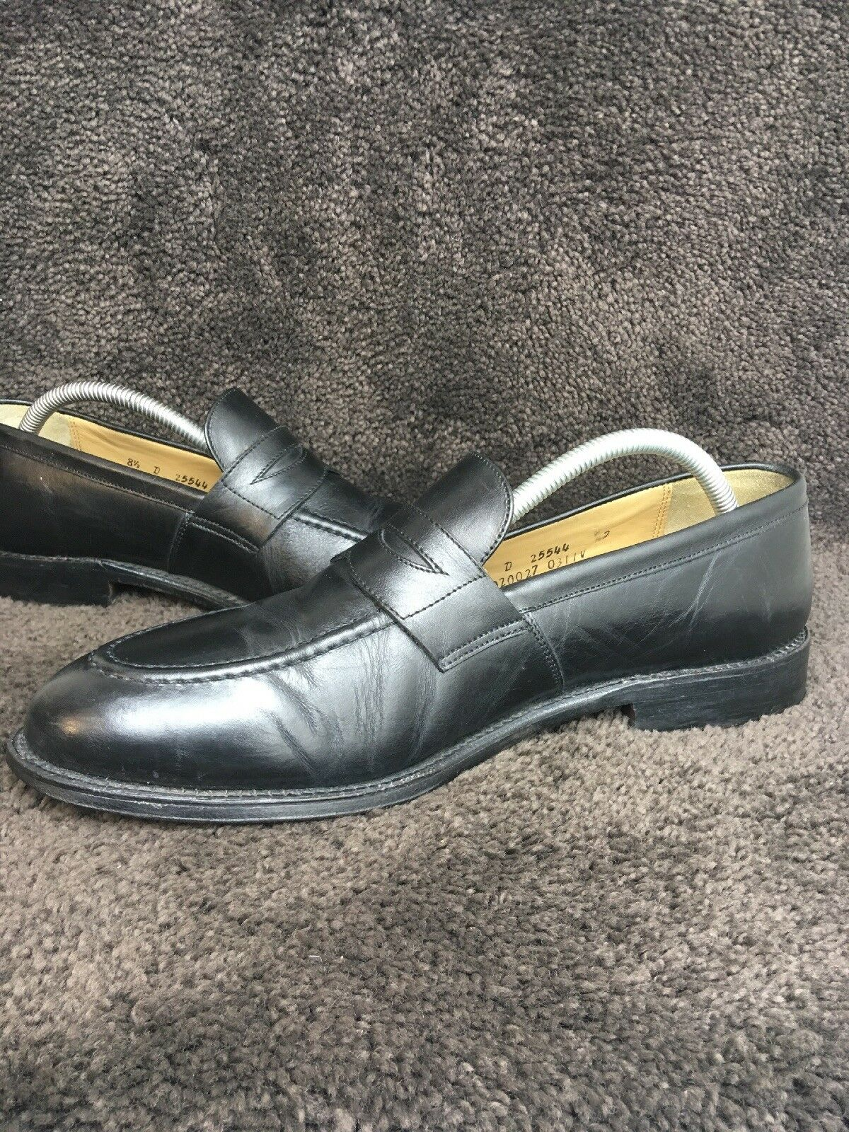 e0aebd8fa6c ... Brooks Bredhers 346 Penny Loafers Black Black Black Leather Sz 8.5 D  227 daf45d ...