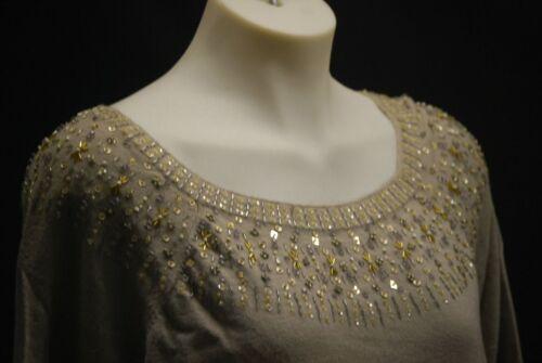 a Neck Anne Exquisite 3 Jeweled 4 325 Nwt Klein Plus maniche Maglione 1x TXHxwaq