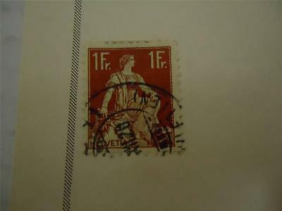 Vintage Official Switzerland Postage Stamp 1922 On Page - Make an Offer