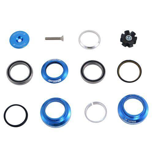 "Blue FSA Orbit MX 1-1//8/"" Threadless MTB Road Headset with Top Cap"