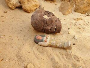 Rare Antique égyptienne antique OUSHEBTI serviteur Minions Cook propre tombe 2480 avant Jésus-Christ
