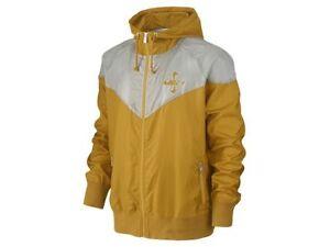Nike-Men-039-s-Yellow-Vintage-Windrunner-Running-Jacket-485029-737-Size-M-2XL