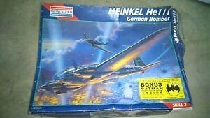 Monogram-1-48-Heinkel-he-111-Deutscher-bombarderos-plastico-modelo-kit-n-5509
