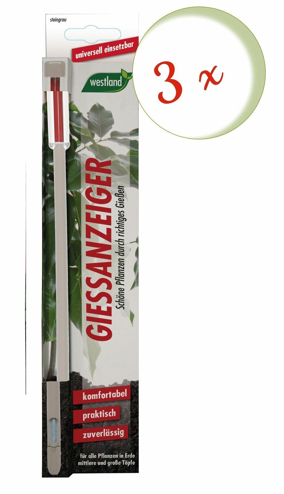 Savings Set: 3 X Westland Indicator For Flower Soil, 26 CM Stone Grey