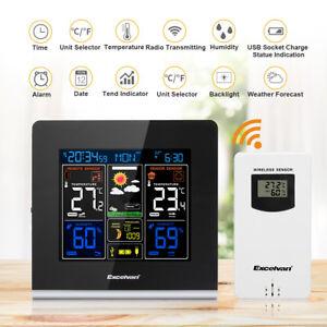Funk LCD Wetterstation Wettervorhersage Outdoor Thermometer Hygrometer Machine