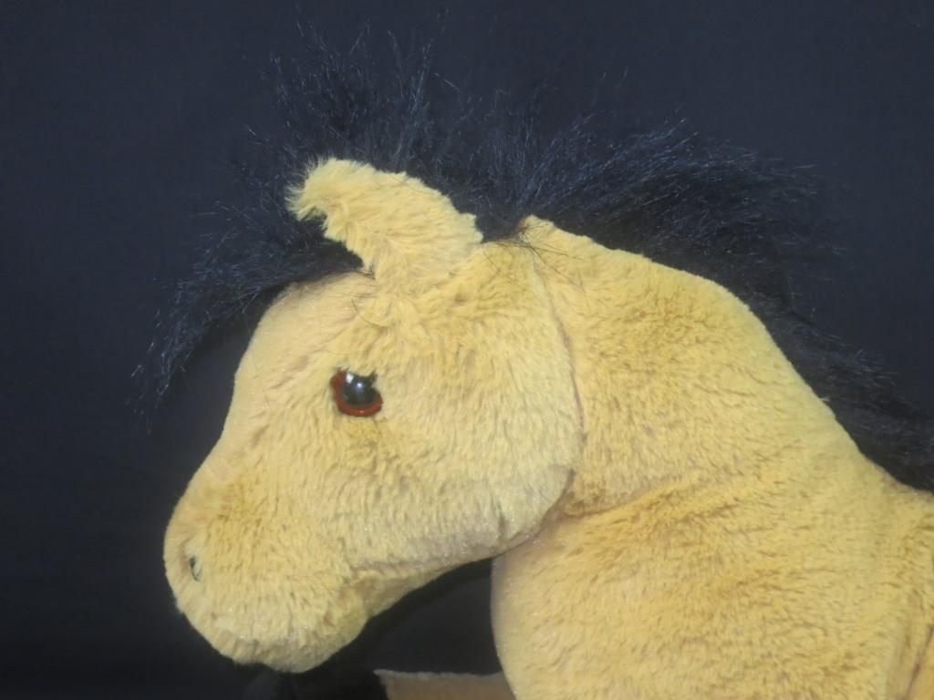 BEST MADE TOYS LARGE SOFT STUFFED PLUSH FLOPPY braun Weiß HORSE DOLL 22