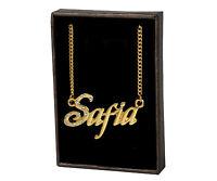 Name Necklace Safia – 18K Gold Plated | Designer Personalised Bridesmaid Unique