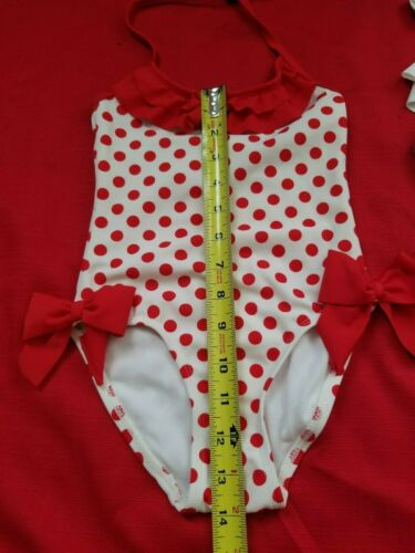 Janie /& Jack Girl blue or red polka dot retro inspired swimsuits size 3