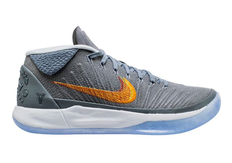0d474762d0a8 2018 Nike Kobe AD SZ 9.5 Snake Wolf Grey Chrome Chrome Chrome Bryant  922482-005