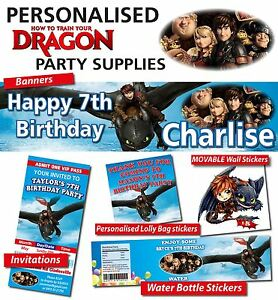 Personalised How to Train your Dragon Birthday Party Decorations eBay