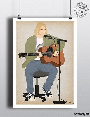 KURT COBAIN Music Icon Minimalist Poster Posteritty Minimal Wall Art Print Decor
