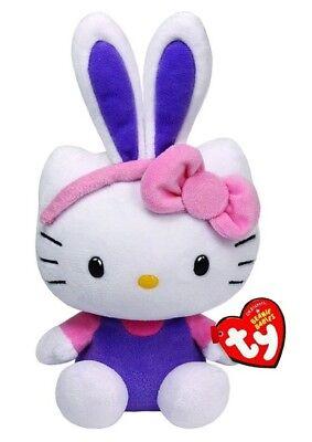 Offen Ty Beanie Babies Hello Kitty Hasenohren Lila Ostern 15cm Katze Kuscheltier 40984 Spielzeug