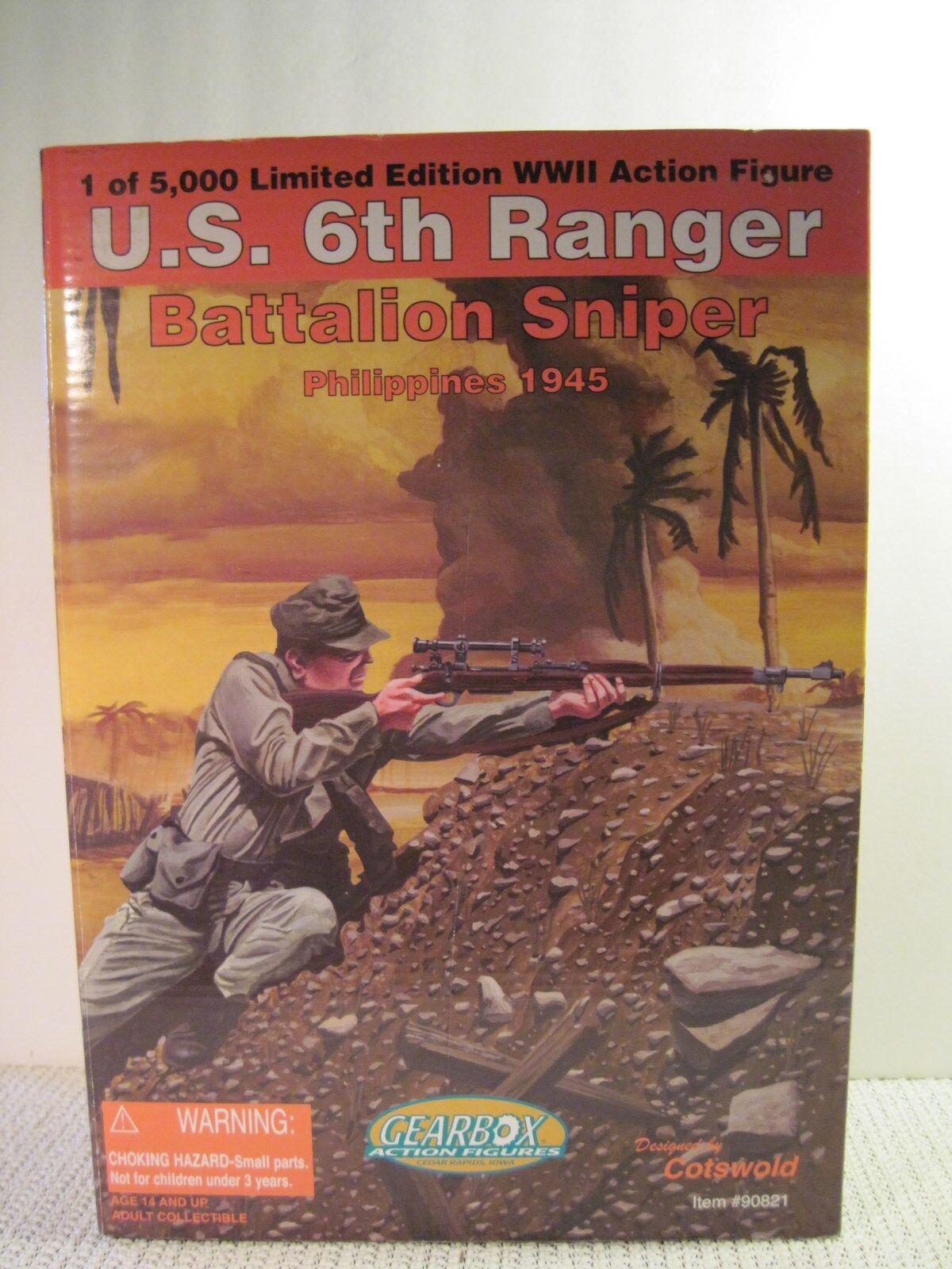12  GEARBOX ACTION FIGURE U.S. 6th RANGER BATTALION SNIPER