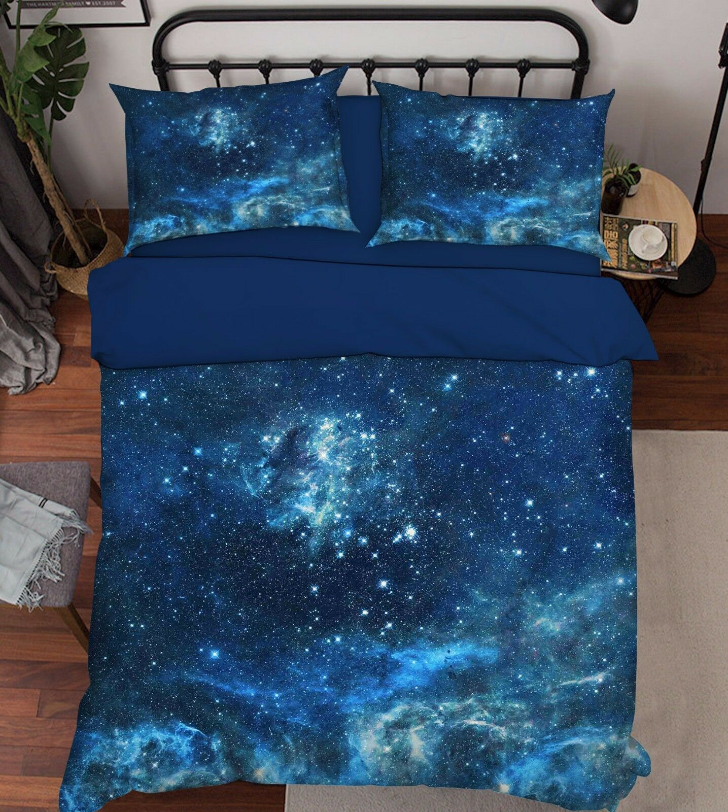 3D Sky Stars 290 Bett Pillowcases Quilt Duvet Startseite Set Single Königin König Größe AU