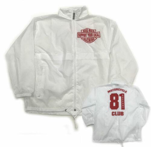 49 Hells Angels  Support81 Big Red Machine Rain Jacket Windbreaker