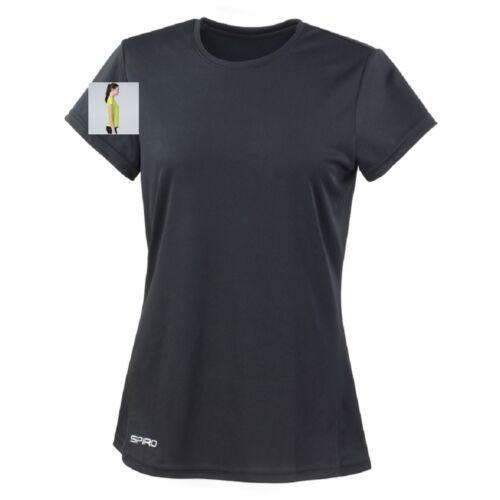 Womens Ladies Breathable Short Sleeve Performance Athletic Sports T-Shirt Tshirt