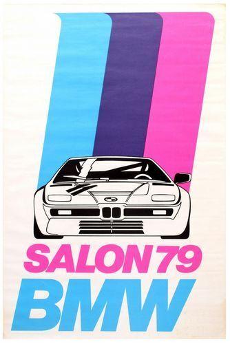 Vintage 1979 BMW Sports Car Poster Print A3//A4
