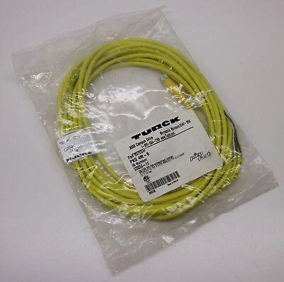 Turck Elektronik PKG 4M-6 U0058-11 ID Yellow Shield Picofast Single End 8m PLC