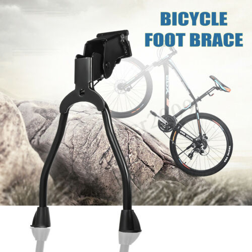 Two Leg Center Mount Road Bike Bicycle Foot Brace Cycling Side Stable Kick Stand