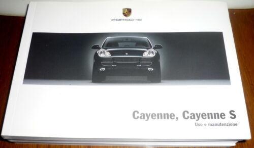 9PA Uso Manutenzione Porsche .CAYENNE,CAYENNE S,CAYENNE TIPTRONIC  ITA 2003