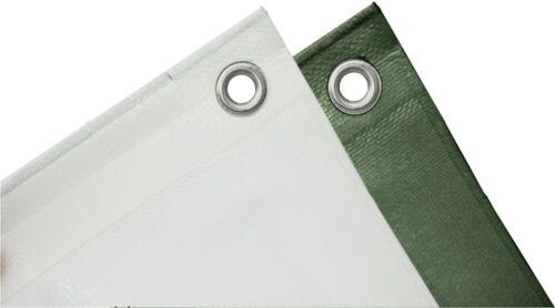 Gewebeplane 0,60€//m² Abdeckplane 140g//m² weiß grün Holzplane Planen Plane Boot