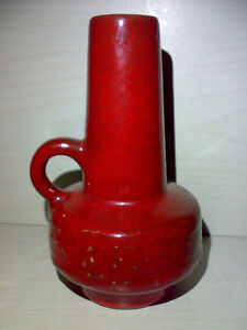 Vase-Montanus-amp-Remy-53-15-Rot-WGP-Mid-Century-60s-70s-Keramik-FAT-LAVA-Pottery