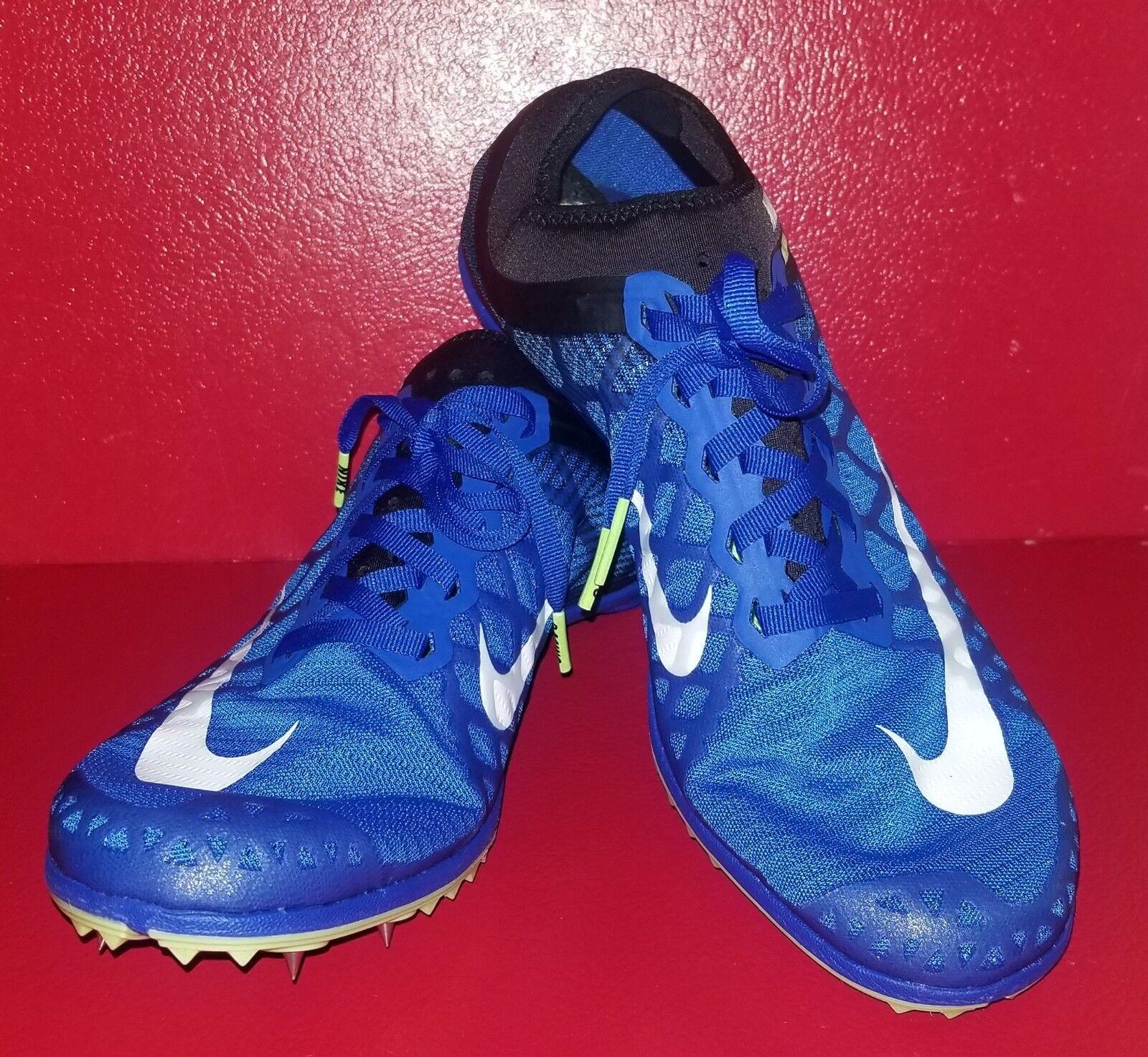 hot sale online ea566 06ef2 Nueva Nike Mamba 3 Distancia azul blanco Track Field Spike Spike Spike  706617-413 zapato