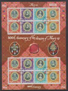Isle-of-Man-2009-Accession-of-King-Henry-VIII-sheetlet-F-U-SG-1485-92