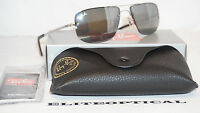 Authentic Ray Ban Rayban Aviator Silver/gray Rb3497 003/6g 59 Mm