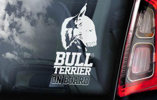 English Bully Dog Sign Decal Car Window Sticker Bull Terrier on Board V05