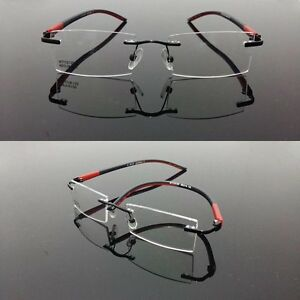 2016 Mens Womens Light Flexible TR90 Rimless sport Glasses ...
