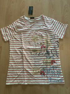 TOP T-Shirt BLUE SEVEN WOMEN Gr. 38-48 beige/orange NEU