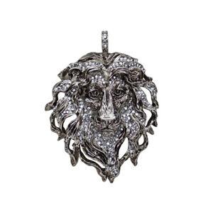 Kirks-Folly-Aslan-Lion-King-Pendant-Antique-Silvertone-with-KF-Gift-Box