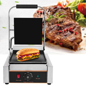Grooved Panini Press Ribbed Toaster Sandwich Contact Grill Catering Machine