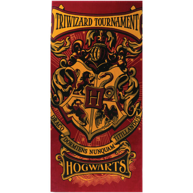 Harry Potter Hogwarts Crest Beach Bath Towel 28X58 | eBay