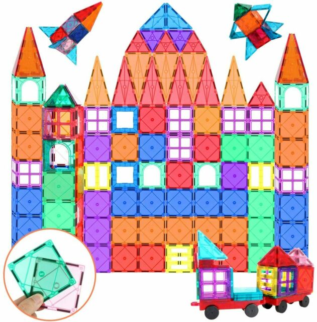 Magnetic Tiles Set 100 Pcs Educational 3D Magnet Building Blocks Toys for Kids