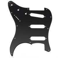 Stratocaster pickguard 3 Ply PVC Guitar Scratch Plate For ST Strat SSS-Black