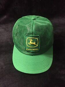 b4757692db7 Vintage John Deere 80 s Patch Mesh Snapback Trucker Hat Cap K ...