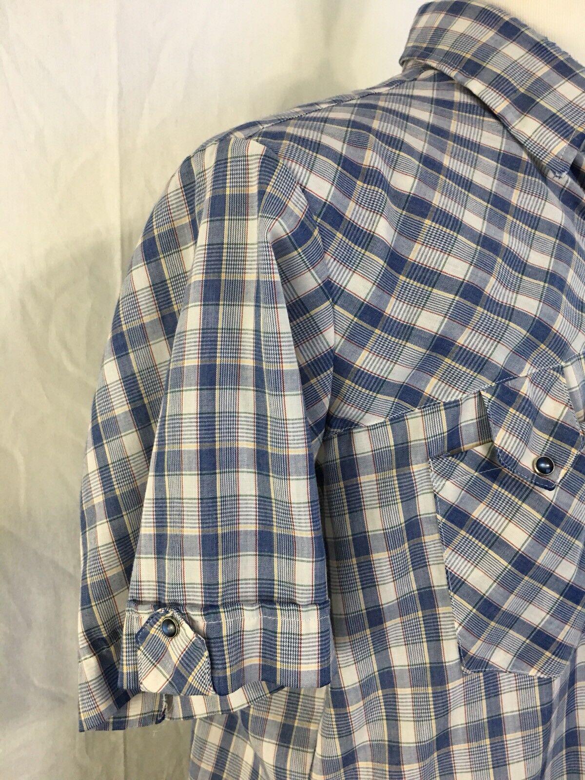 Miller Miller Miller Pearl Snap Shirt Vintage Siz… - image 3