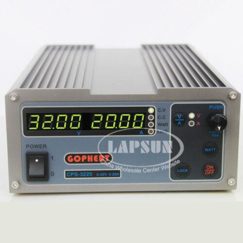 220V-240V AC 32V 20A 0.01V DC Precision PFC Factor Correction Power Supply 3220
