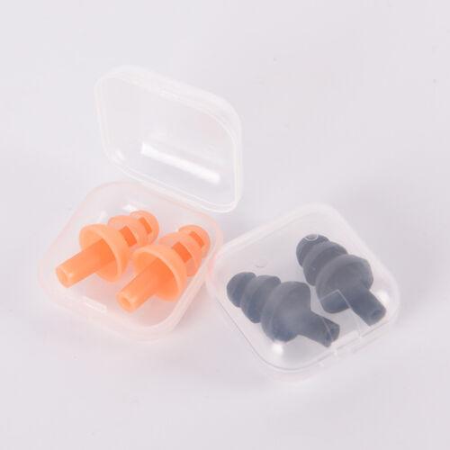Soft Silicone Earplugs Reusable Ear Plugs Sleep Swimming Work Noise