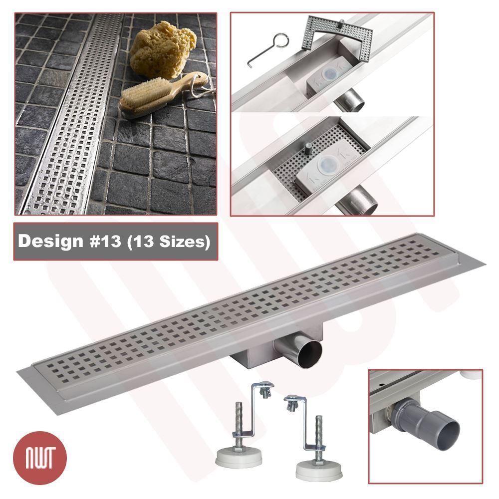 rectangulaire  en acier inoxydable douche, pièces humides Drainage GULLY (300 mm à 2000 mm)