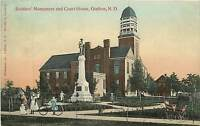 North Dakota, ND, Grafton, Soldiers's Monument & Court House 1909 Postcard