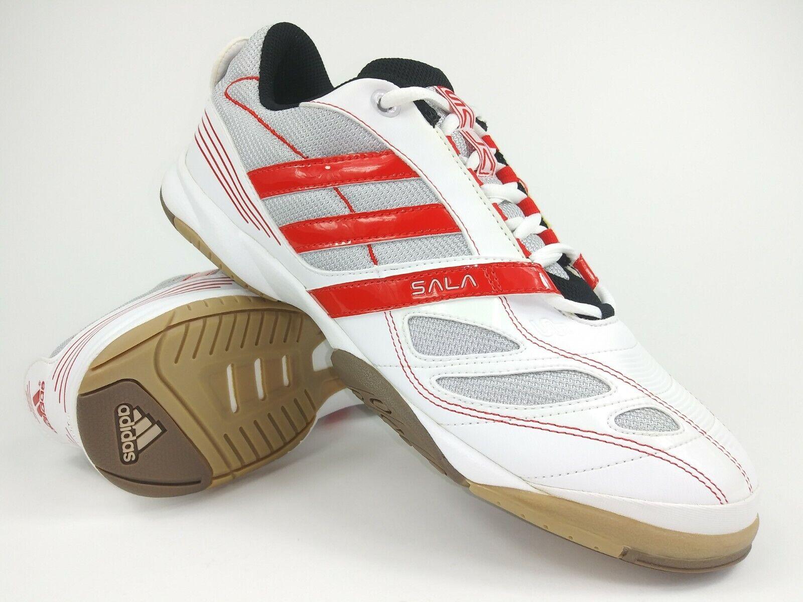 Adidas Hombre Raro Súper Sala VI 011225 blancoo Rojo Interior Fútbol Zapatos
