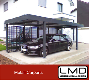 metall flachdach carport breite 3 20m tiefe 5 65m h he. Black Bedroom Furniture Sets. Home Design Ideas