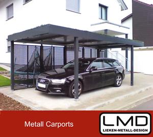 das bild wird geladen metall flachdach carport breite 3 20m tiefe 5