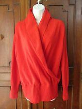 Sutton Studio Red 100% Cashmere Faux Wrap Sweater Shawl Collar XL NWOT