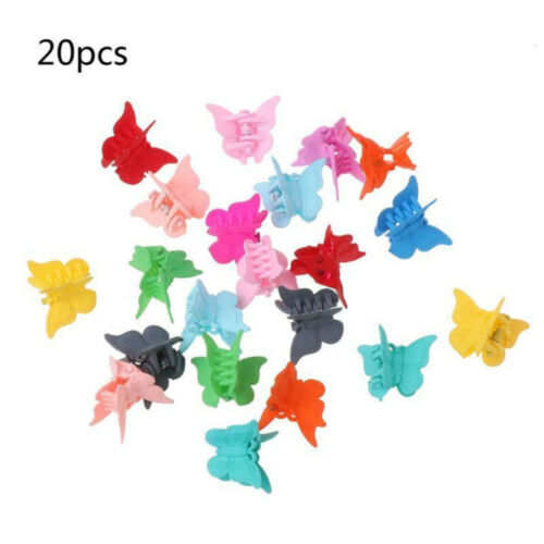 20PCS Mini Hair Claws Multi Colors Hair Clips Butterfly Shape Hair Clamps New S8